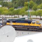 Alaska rail locomotief